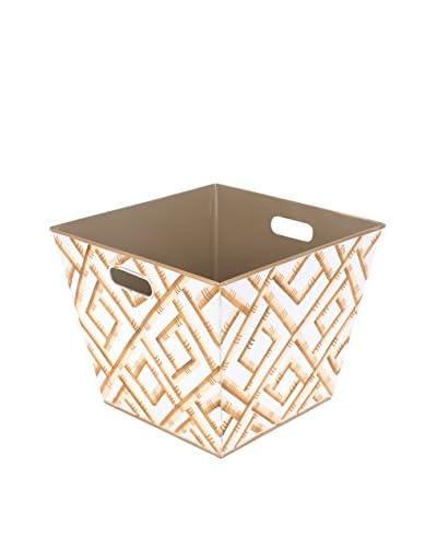 Jayes Bamboo Storage Bin, Cream