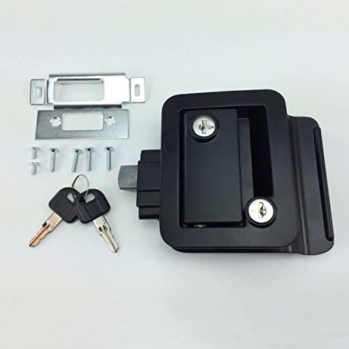 NEW RecPro BLACK RV CAMPER TRAILER MOTORHOME PADDLE ENTRY DOOR LOCK LATCH HANDLE KNOB DEADBOLT (Camper Door Entry Lock compare prices)