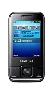 Samsung E2600 Sundance Black Mobile Phone - 2 MP Camera on Vodafone PAYG