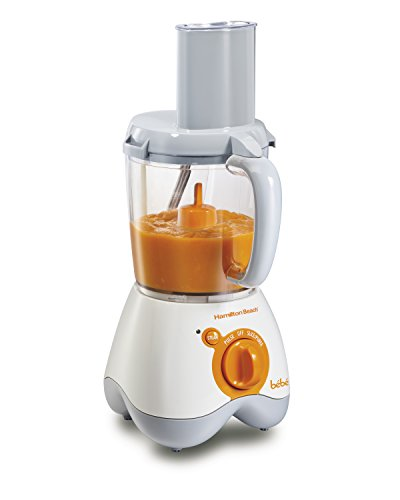Hamilton Beach 36533 Bebe Baby Food Maker, 5 Cup Food Processor with 10 Food Containers and 2 Stackable Caddies, White (Steamer Puree compare prices)