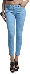Addyvero Women's Slim Fit Jeans (CL-WM-L0037, Light Blue, 28)