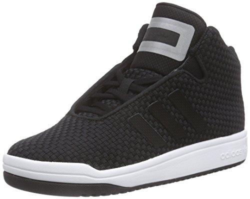 adidasVeritas Mid Weave - Scarpe da Basket Unisex - Adulto , Nero (Schwarz (Core Black/Core Black/Ftwr White)), 42