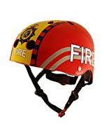 Kiddimoto Casco de Ciclismo Fire Fighter (Rojo)