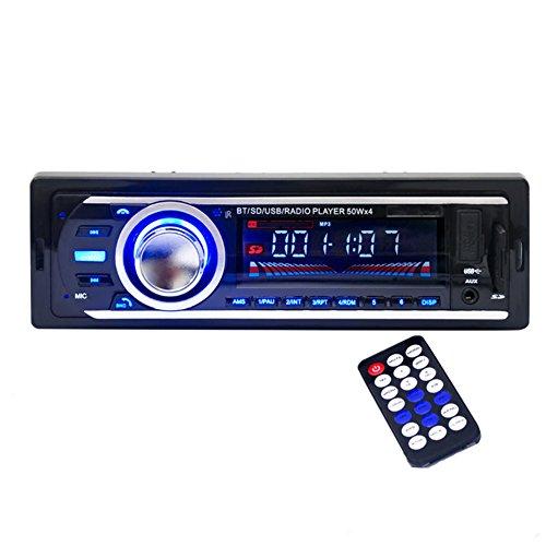 Kingtoys1-DIN-MP3-Autoradio-mit-Apple-iPodiPhone-Control-FunktionBluetooth4x-60WattUSBAux-EingangSD-Speicher-HP-2126-Schwarz