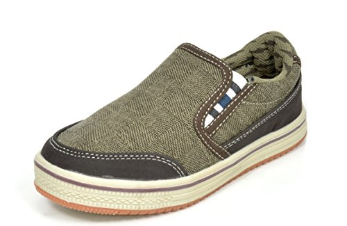 DREAM PAIRS Boys Casual Slip On Boat Shoe Sneakers Loafers
