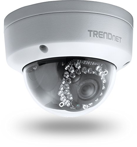 Trendnet Outdoor 3 Mp Poe Dome Network Surveillance Camera With Night Vision, Tv-Ip311Pi