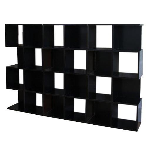 3x Modul-Regal Standregal M73, 124x187x28 cm ~ schwarz