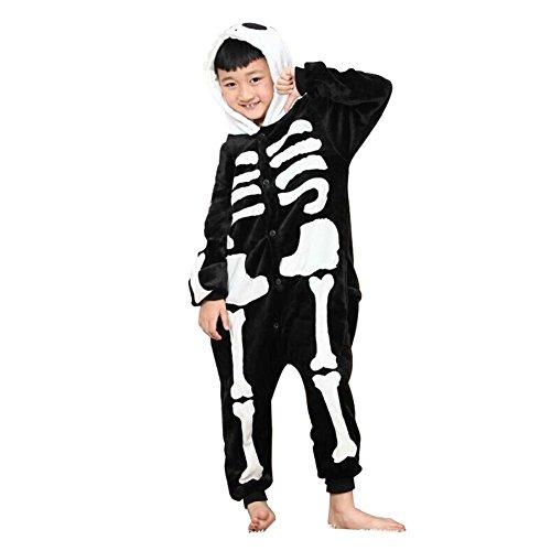 [Shorven Boys Girls Pajamas Costume Animal Hoodie Onesies Small Skeleton] (Boys Skeleton Sweatshirt Hoodie Costumes)