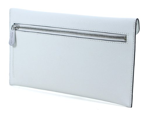 MICHAEL Michael Kors Michael Kors Large Jeweled Jet Set Travel Envelope Clutch White