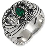 Lord of the Rings Sterling Silver Barahir's Aragon Ring