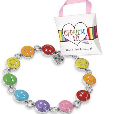 Rainbow Smiley Bracelet by CharmIt! High IntenCity