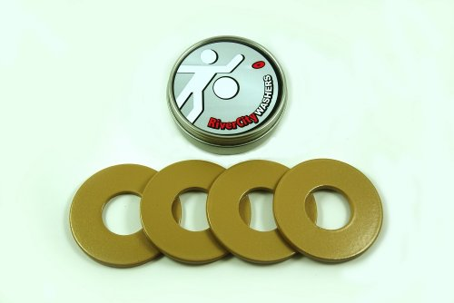 Rivercity Pitching Washers: (4) Gold 2.5 Inch Washers front-628305