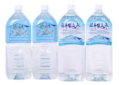 飲み比べセット 霧島の福寿鉱泉水(硬水) 霧島の天然水(軟水) 2Lペットボトル×10本セット