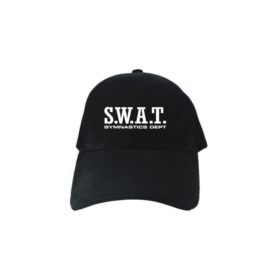 facf6435fa3 SWAT Gymnastics DEPT Black Baseball Cap Unisex Clothing on PopScreen