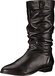 Dune London Women\'s Relissa Boot, Black Leather, 6 M US