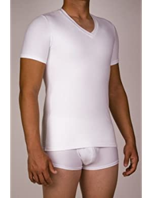 Underworks Cotton Concealer Compression V-neck T-shirt