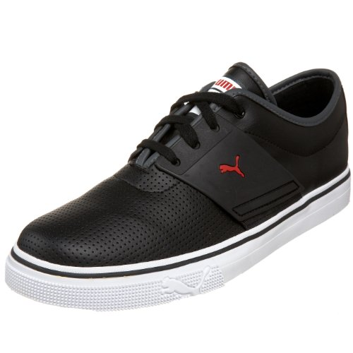 PUMA Mens El Ace L SneakerBlackDark ShadowRed11 D US
