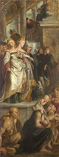 High Quality Polyster Canvas ,the High Definition Art Decorative Prints On Canvas Of Oil Painting 'Peter Paul Rubens Three Female Witnesses ', 18 X 48 Inch / 46 X 121 Cm Is Best For Bathroom Gallery Art And Home Decoration And Gifts
