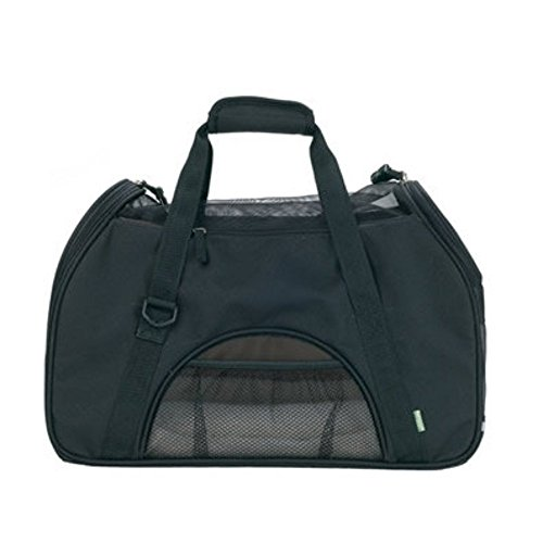 Attmu Large Space Comfort Pet Carrier, Soft-sided Pet Carrier for Dogs and Cats, Black