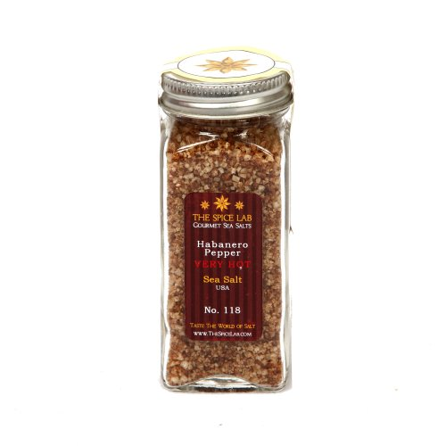 The Spice Lab Habanero Pepper, Sea Salt USA, Very Hot - Import It All