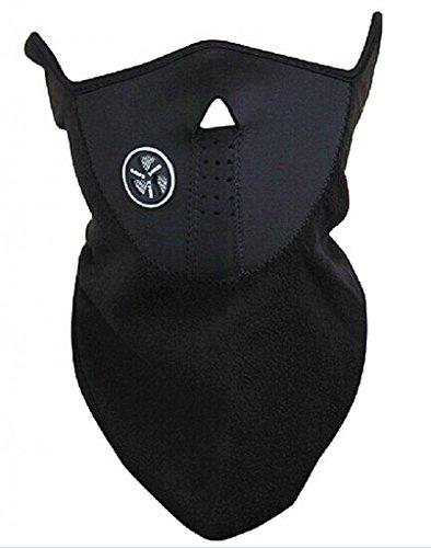 GODHL eine halbe Maske Fleece Hals Ohr wärmer Gesichtsschutz belüftet verstellbare schließen Facemask