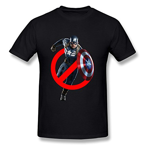 AOPO Ghostbuster Captain America O-Neck Shirt For Men Medium Black