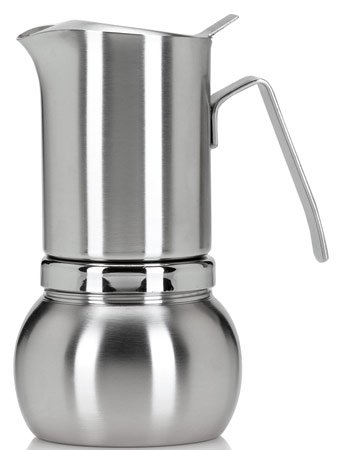 Stella Inox Satinato 2-cup Stainless Steel Stovetop Espresso Maker