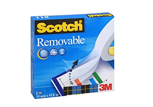 3M 30562 Nastro Scotch Magic Rimovibile, 1 Rotolo da 19 mm x 66 m