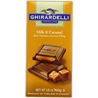 Ghirardelli Chocolate Bar, Milk & Caramel, 3.5-Ounce Bars (Pack of 6)