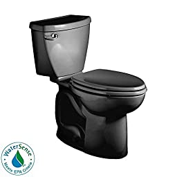 American Standard Cadet 3 Elongated Flowise Two-Piece High Efficiency Toilet with 12-Inch Rough-In, Black Black