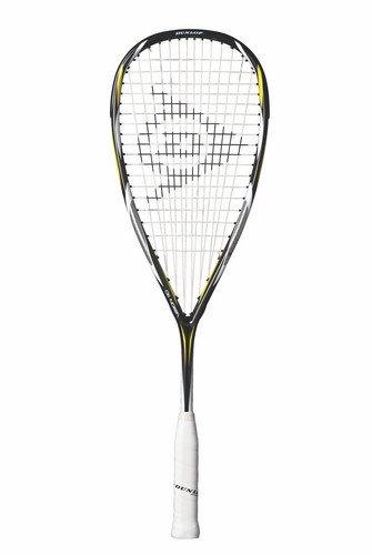 Dunlop Vision squash-Schläger, Schwarz/Gelb/Weiß, 110 g