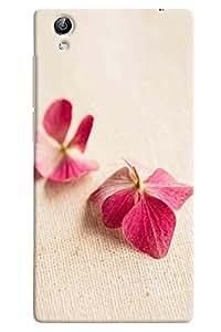 Omnam Natural Pink Leaves Printed Designer Back Cover Case For Vivo Y51 L