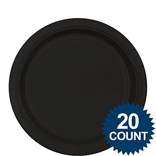"Black 9"" Paper Plates, 20ct. - 1"