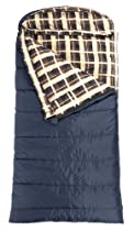 "TETON Sports Celsius XL -18 Degree C / 0 Degree F Flannel Lined Sleeping Bag (90""x 36"", Blue, Left Zip)"