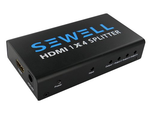 sewell hdmi splitter 1x4 sw 23653 cc 14 b003i7digu. Black Bedroom Furniture Sets. Home Design Ideas