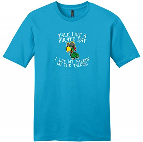 Talk Like A Pirate Day Let My Parrot Do The Talking Young Mens T-Shirt 3Xl Light Turquoise front-963494