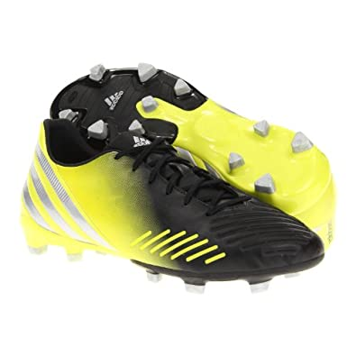 adidas Men's predator Absolion LZ TRX FG Soccer Shoe,Black/Lab Lime/Metallic Silver,8 D US