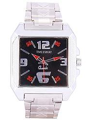 Time Expert Analogue Black Dial Men's Watch - TE100352