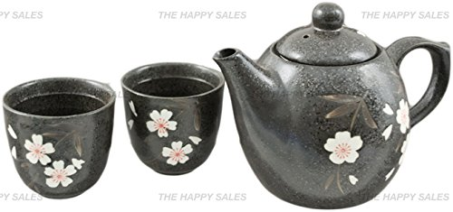 Why Choose Happy Sales Black Porcelain Tea set White & Pink Blossom (1 pot & 2 cups)