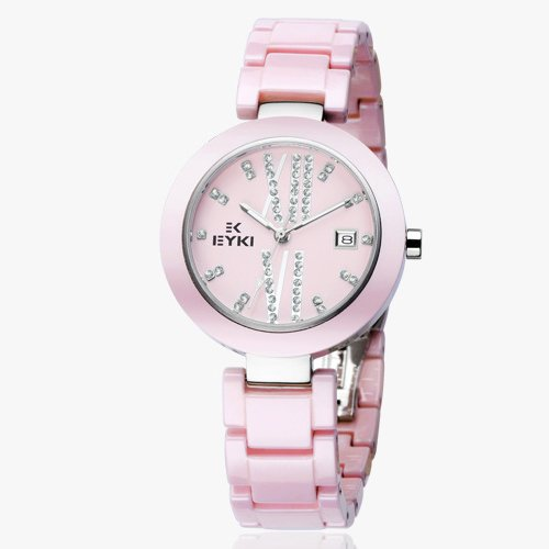 Ufingo-Fashion Best Nice Ceramic Quartz Watch Gift For Women/Girls/Ladies-Pink