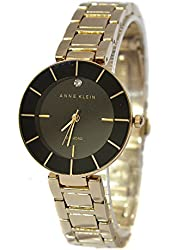 ANNE KLEIN Diamond Accent Gold Tone Bracelet Women's Watch
