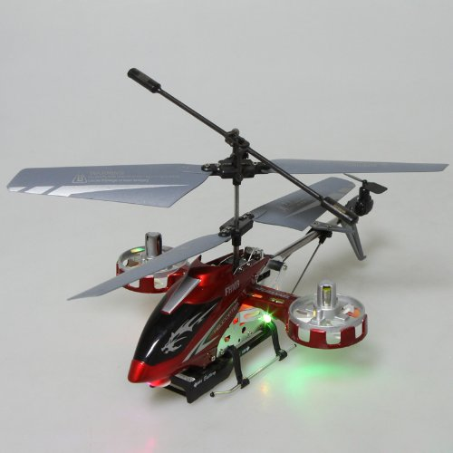 F103 4CH 4 Channel Gyro LED Mini LED I/R Metal Model RC Helicopter RTF Red