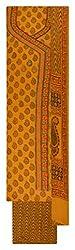 Sanskriti Women's Cotton Unstitched Dress Material (Yellow)