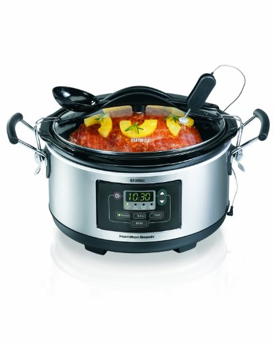 Hamilton Beach Deluxe Set & Forget® 6 Quart Slow Cooker (33862) front-52924