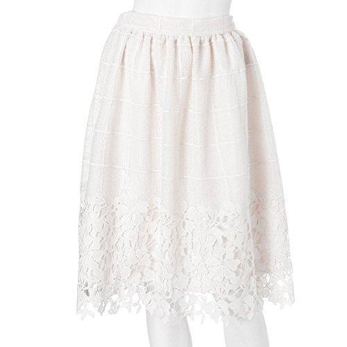 (マーキュリーデュオ)MERCURYDUO ピンチェック×レーススカート 001610800701 OFFWHITE : 服&ファッション小物通販 | Amazon.co.jp