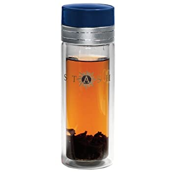 Clear Glass Stash Logo Travel Mug
