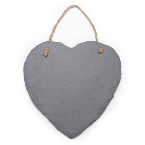Slate Heart Chalkboard Sign, Twine For Hanging, Blackboard