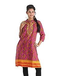 Indiankala4u Cotton Straight Kurta In Ethnic Prints - B00NRSOD50