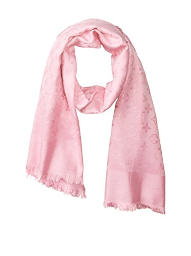 Louis Vuitton Women's Pre-Owned Monogram Shawl, Light Pink