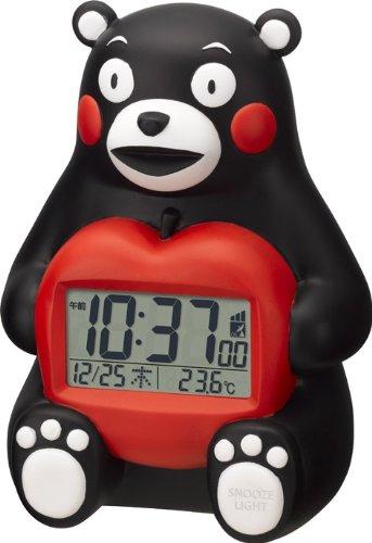 【くまモン3D電波時計】《数量限定》 可愛いデジタル目覚まし時計 8RZ156RH02